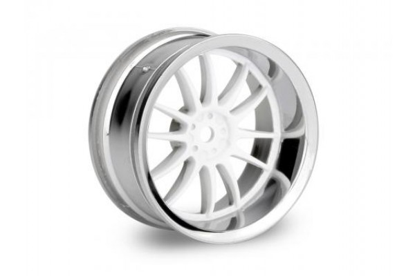 HPI Work XSA 02C Wheel, 26mm-6mm Offset, Chrome/White (3284)