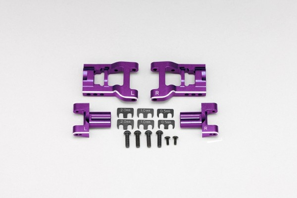 YOKOMO Adjustable rear short H arm kit (Purple anodized) (Y2-P08RAS)