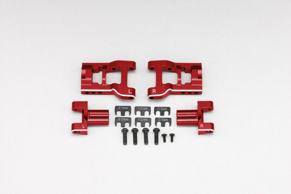 YOKOMO Adjustable rear short H arm kit (Red anodized) (Y2-R08RAS)