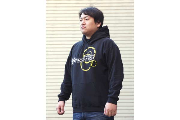 YOKOMO TEAM HOODIE BLACK LARGE (ZC-P24L)