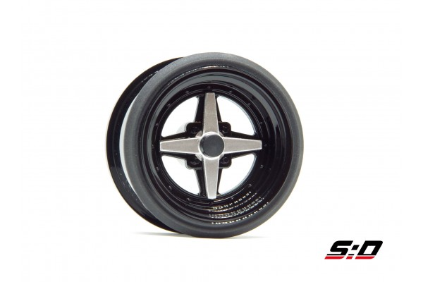 SCALE DYNAMICS V16D WORK EQUIP 01 OFFSET 12 BLACK RIM (10116)