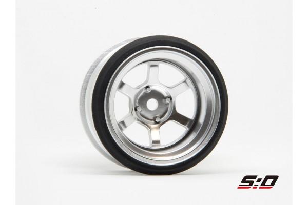 SCALE DYNAMICS V16D 6 Spoke Offset 10 Aluminum Silver (10125)