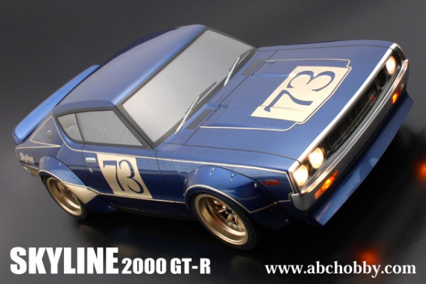 ABC HOBBY NISSAN SKYLINE GT-R (KENMERI) + Racing Over Fender Kit (200mm) / Body Set with Light Buckets(66136)