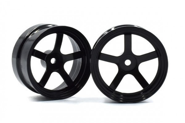 REVE D Drift Wheel DP5 (Black, Offset 6, 2pcs)(RW-DP5K6)