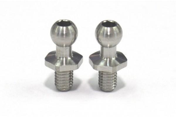 REVE D SPM TITANIUM ROD END BALL S (4.3mm, SCREW LENGTH 4.5MM, 2 PIECES)(RT-006S)
