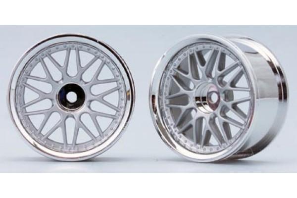 YOKOMO 10 Mesh Wheel Matte Silver (TW-1313MS)