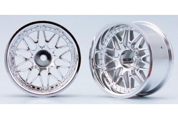 YOKOMO 10 Mesh Wheel Chrome Off-set 12mm (TW-1313S)