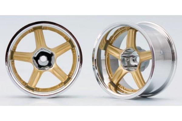 YOKOMO RAYS VOLK RACING GT-C Gold Off-set 12mm (TW-1813GS)