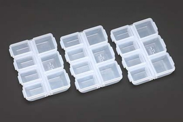YOKOMO 90 × 70 × 17 mm Parts Case (3pcs) (YC-10)