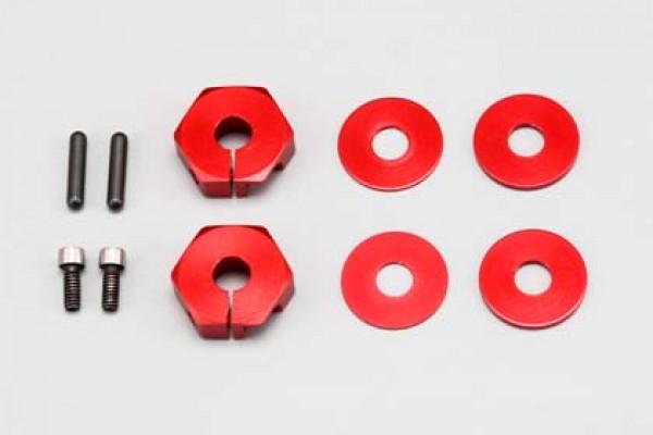 YOKOMO Narrow Clamp Wheel Hub (Red) (2pcs) (ZSR-011N)